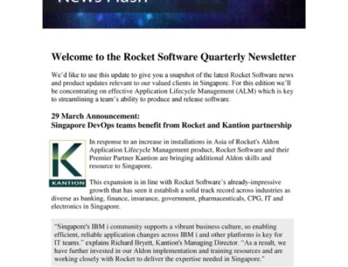 Rocket promotes Kantion in Asia newsletter